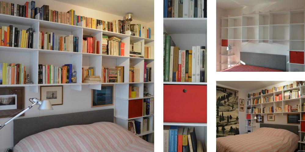 Libreria a muro okap mobili su misura for Libreria a muro bianca