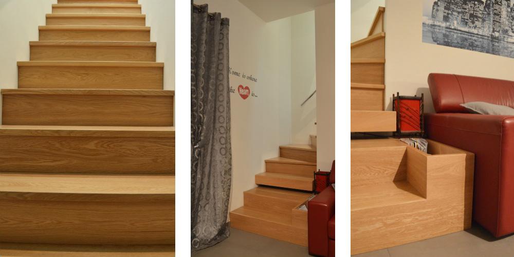 Scala legno per interni okap mobili su misura - Scale rivestite in legno per interni ...