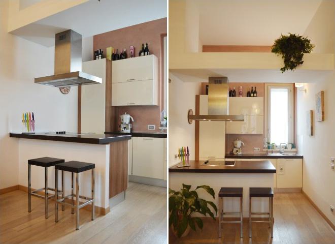 penisola in cucina piccola : tecniche per ristrutturare casa e ottimizzare lo spazio