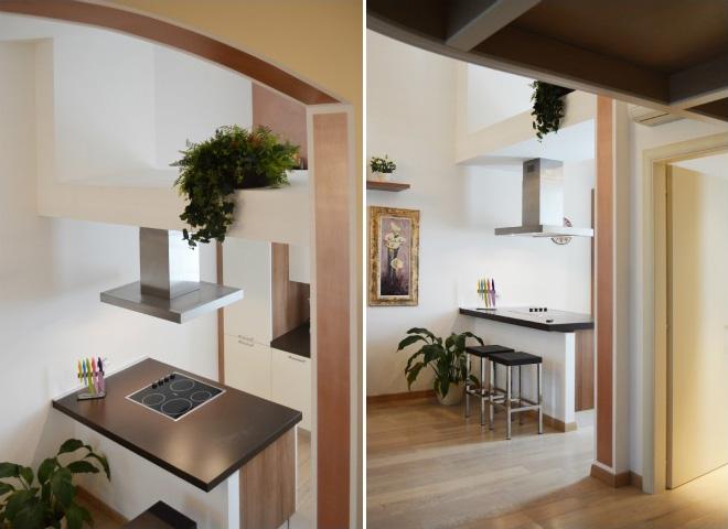 4 tecniche per ristrutturare casa e ottimizzare lo spazio - Cucina con soppalco ...