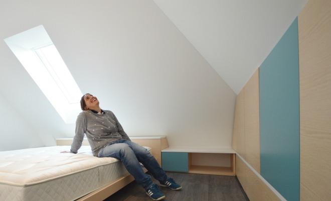 Arredare camera da letto una mansarda a monaco di baviera - Camera da letto mansarda ...