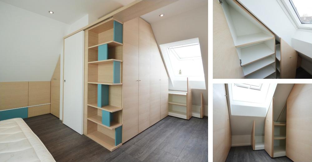 Camera da letto in mansarda okap mobili su misura - Camera da letto sottotetto ...
