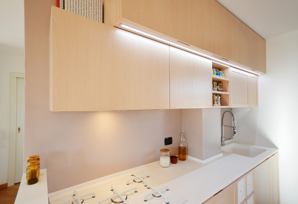 cucina minimal shabby okap mobili su misura