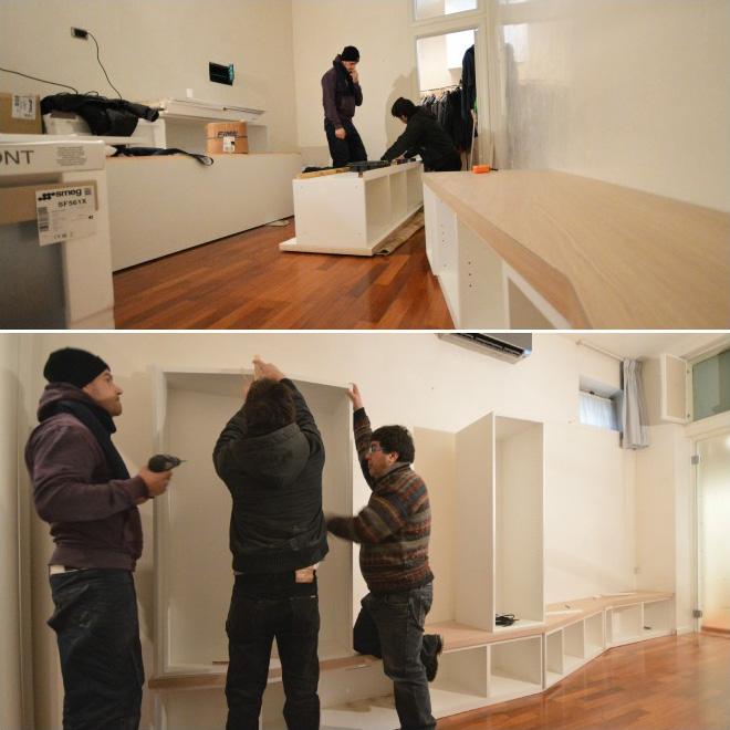 Arredare Soggiorno 20 Mq: Disposizione cucina e soggiorno del concetto di arredamento.