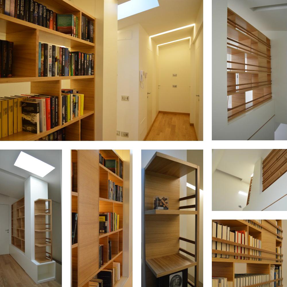 Libreria 39 strips 39 okap mobili su misura for Mobili librerie torino