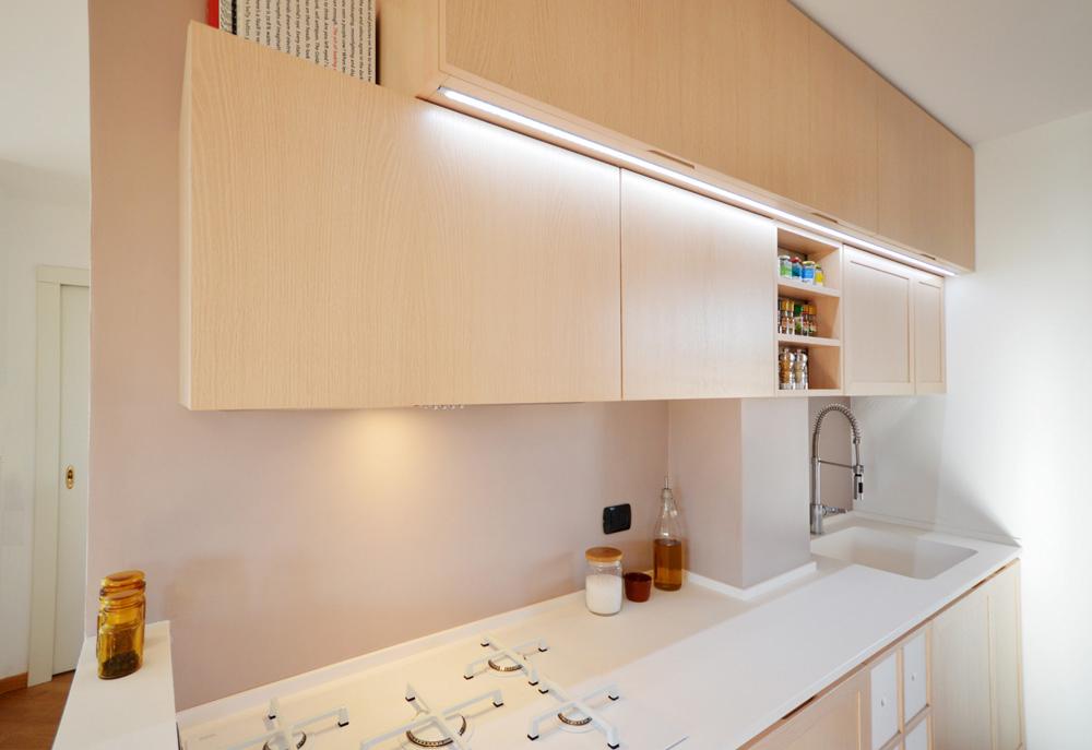 Cucina minimal shabby okap mobili su misura for Cucina minimal